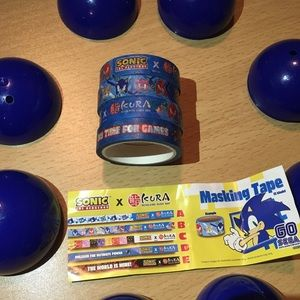 Sonic the Hedgehog Washi Tape Kura Design Stickers